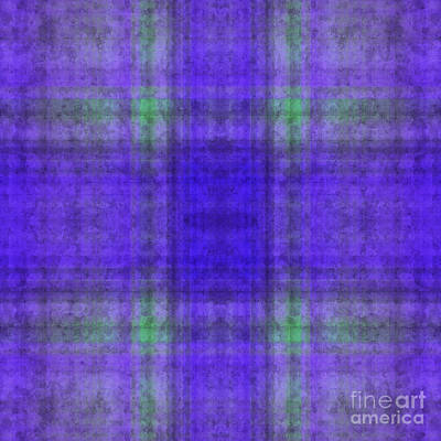 Digital Art - Plaid In Purple 2 Square by Andee Design
