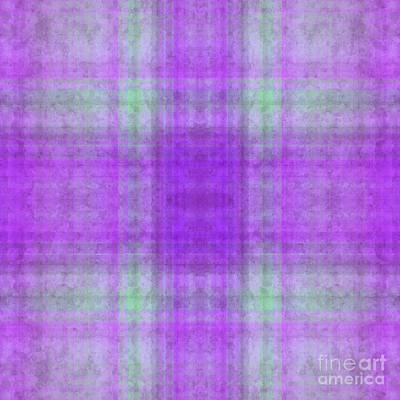 Digital Art - Plaid In Purple 3 Square by Andee Design