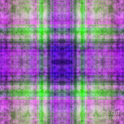Digital Art - Plaid In Purple 5 Square by Andee Design