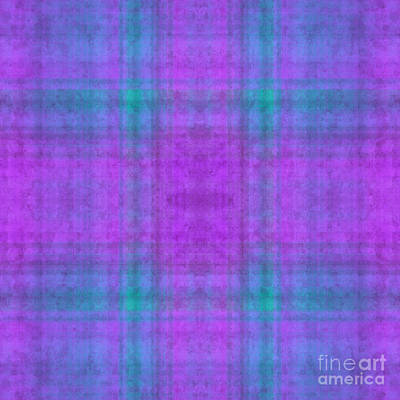 Digital Art - Plaid In Purple 1 Square by Andee Design