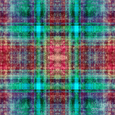 Digital Art - Plaid In Red And Green Square by Andee Design