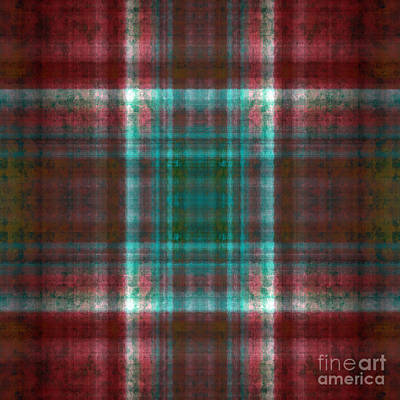 Digital Art - Plaid In Rust Square by Andee Design