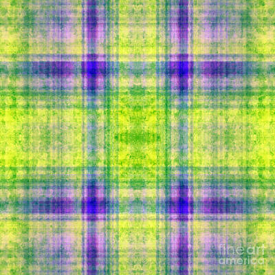 Digital Art - Plaid In Yellow 3 Square by Andee Design