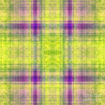 Digital Art - Plaid In Yellow 4 Square by Andee Design