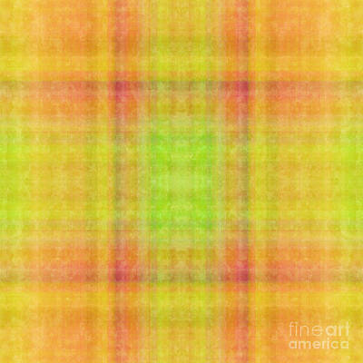 Digital Art - Plaid In Yellow 1 Square by Andee Design