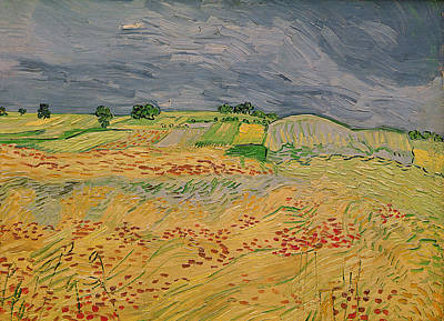 Plain At Auvers Print by Vincent Van Gogh