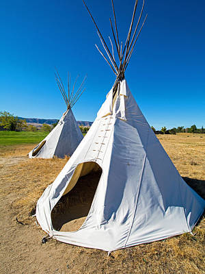 Photograph - Plains Indian Tipi by Millard H. Sharp