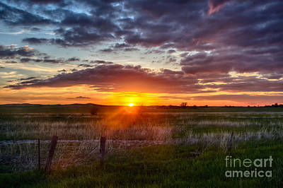 Plains Sunset Art Print