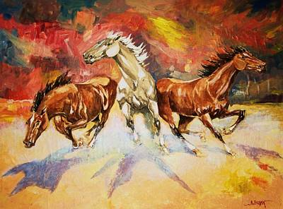 Art Print featuring the painting Plains Thunder by Al Brown