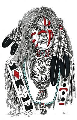 Plains Warrior Original by Louis McCollum
