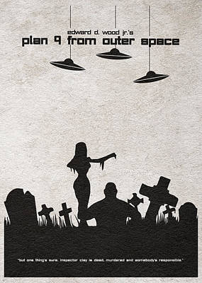 Plan 9 From Outer Space Art Print by Ayse Deniz