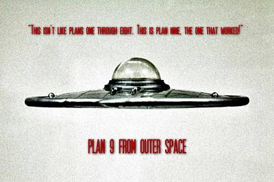 Science Fiction Photograph - Plan 9 Seinfeld by Benjamin Yeager