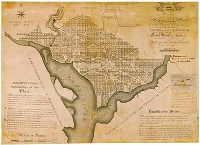 Plan For Washington D.c. Art Print by American Philosophical Society