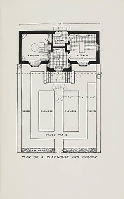 Plan Of A Play-house Art Print by British Library
