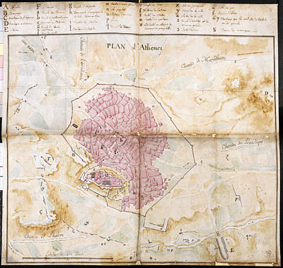 18th Century Photograph - Plan Of Athens by British Library
