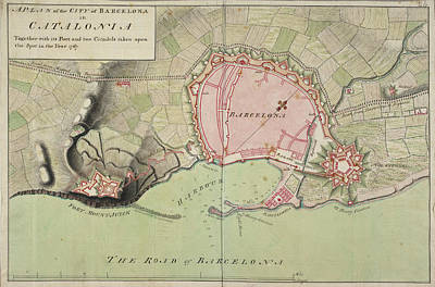 Cartography Photograph - Plan Of Barcelona by British Library