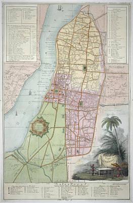 Calcutta Photograph - Plan Of Calcutta by British Library