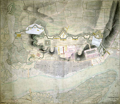 Chatham Photograph - Plan Of Chatham Lines by British Library