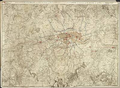 Plan Of Encampments In London Art Print by British Library