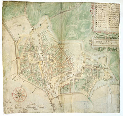 Netherlands Map Photograph - Plan Of Flushing by British Library