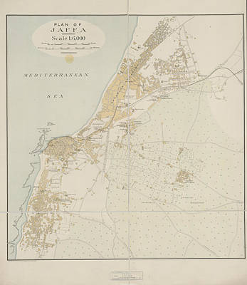 Plan Of Jaffa Print by British Library