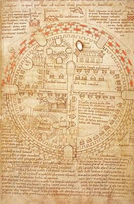 Sepulchre Photograph - Plan Of Jerusalem by British Library