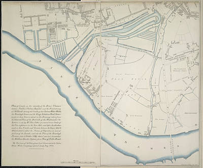 Plan Of Lands Art Print by British Library