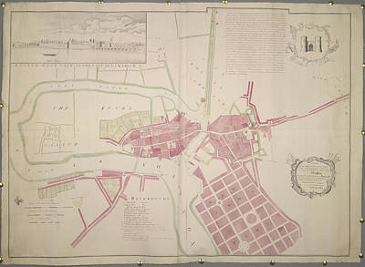 Plan Of Limerick Art Print by British Library