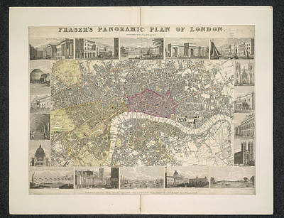 Tower Of London Photograph - Plan Of London by British Library
