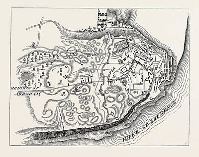 Plan Of The Attack On Quebec In 1775, From Thayers Journal Art Print