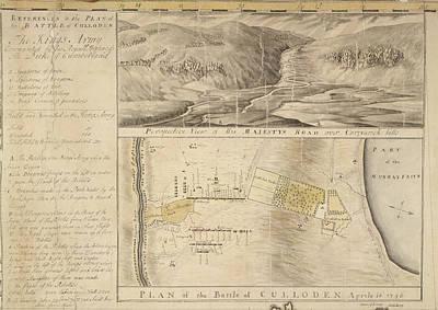 Plan Of The Battle Of Culloden Art Print