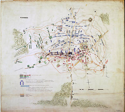 Emma Photograph - Plan Of The Battle Of Waterloo by British Library