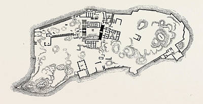 Plan Of The Island Of Philae Art Print