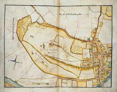 Cartography Photograph - Plan Of Windsor by British Library