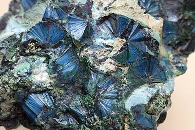Fibrous Crystals Photograph - Plancheite Mineral by Science Photo Library