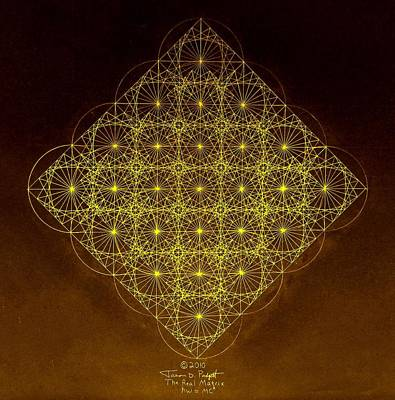 Fractal Geometry Drawing - Planck Space Time  by Jason Padgett
