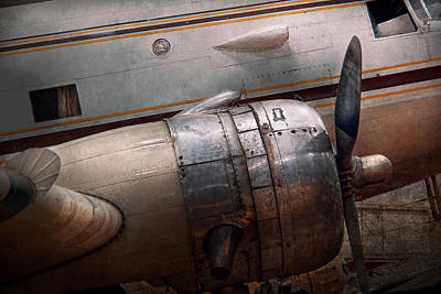 Old Fashioned Photograph - Plane - A Little Rough Around The Edges by Mike Savad