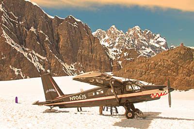 Photograph - Plane On Mt Denali Alaska by Ronald Olivier
