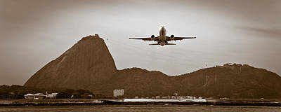 Photograph - Plane Over Rio De Janeiro by Celso Diniz