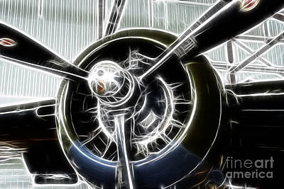 Plane Props At The Ready Art Print by Paul Ward