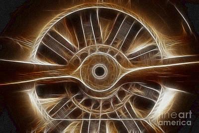 Plane Wooden Prop Art Print by Paul Ward