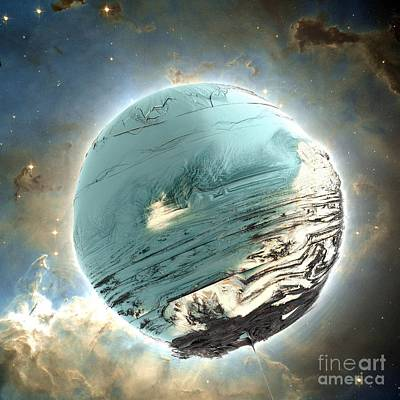 Digital Art - Planet Blue by Bernard MICHEL