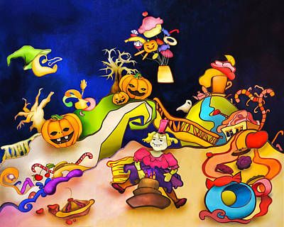 Boiler Mixed Media - Planet Halloween by Svetlana Makarova