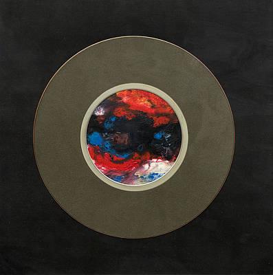 Cardboard Mixed Media - Planet IIi by Gheorghe Ciobanu