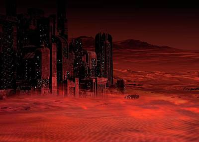 Red Buildings Photograph - Planet Mars In The Future by Victor Habbick Visions