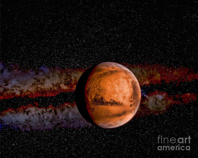 Planet - Mars - The Red Planet Art Print by Paul Ward