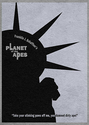 Ape Mixed Media - Planet Of The Apes by Ayse Deniz