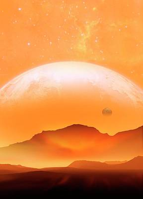 Planet Scene Art Print by Victor Habbick Visions