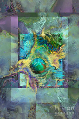 Digital Art - Planetary Collision by Ursula Freer