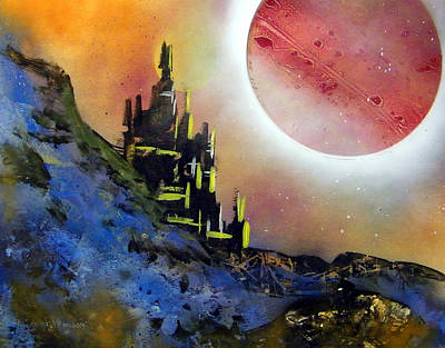 Painting - Planetary Eclipse by Richard Mordecki